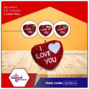 Big Heart Fur Cushion