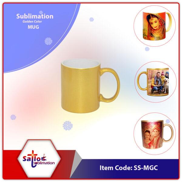 Golden Color Sublimation Mug