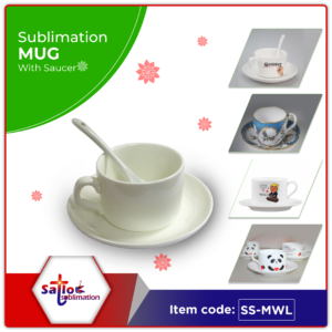 Sublimation Cup with Saucer