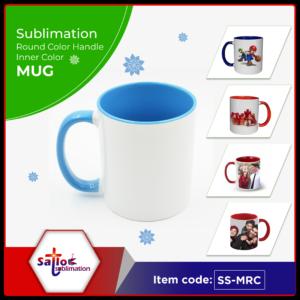 11oz Inner & Round Handle Colored Mug