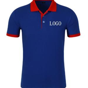 Collar and Body Mixed Color Polo Shirt